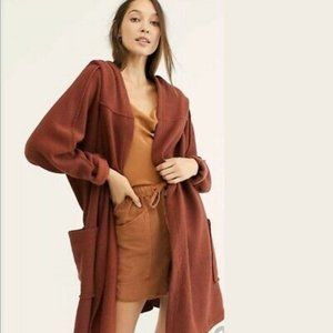 FREE PEOPLE Willow Hooded Oversized Cardigan XS/S